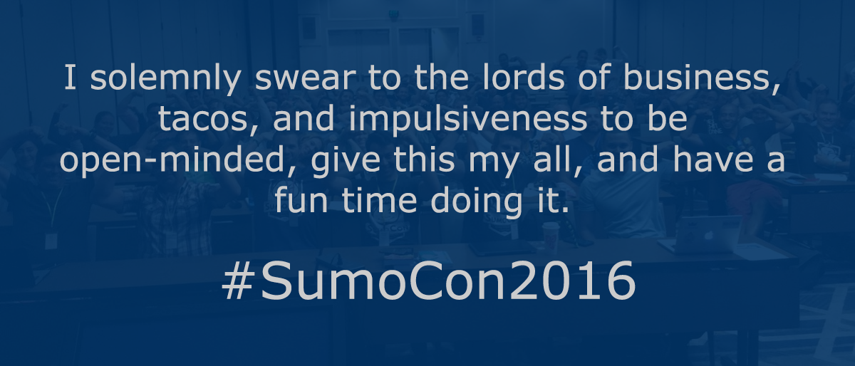 The SumoCon 2016 pledge